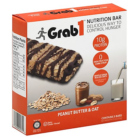 Grab 1 Peanut And Oat Snack Bar - 8.75 Oz