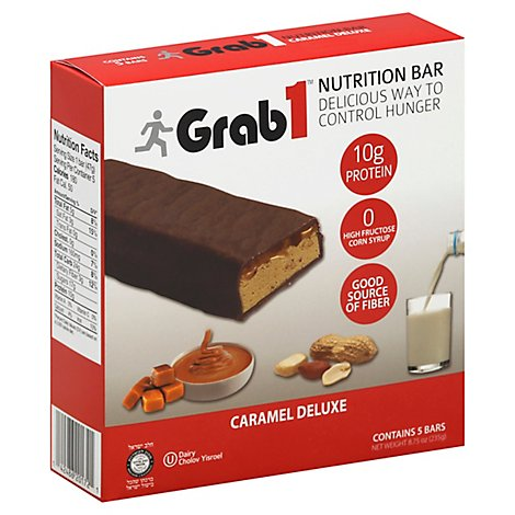 Grab 1 Caramel Deluxe Snack Bar - 8.75 Oz