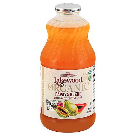 Lakewood Juice Papaya Org - 32 Fl. Oz.