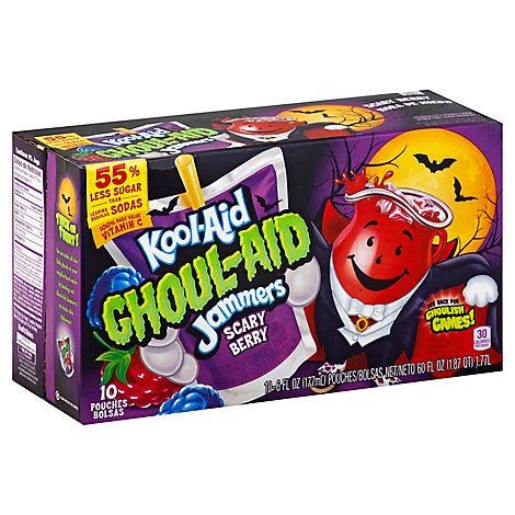 Kool-Aid Jammers Soft Drink-Ready To Drink Ghoul-Aid Scary Berry - 60 Fl. Oz.