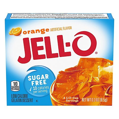 Jello Sugar Free Orange Gelatin Mix - .3 Oz