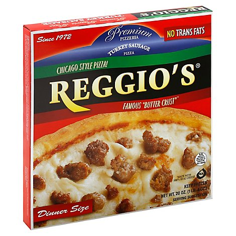 Reggios Pizza Dinner Size Turkey Sausage Frozen - 20 Oz