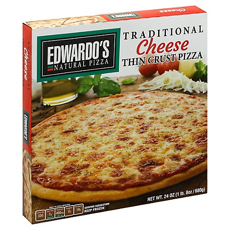 Edwardos Pizza Traditional Thin Crust Cheese Frozen - 24.3 Oz