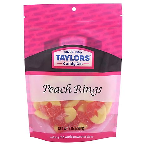 Taylors Peach Rings - 8 Oz