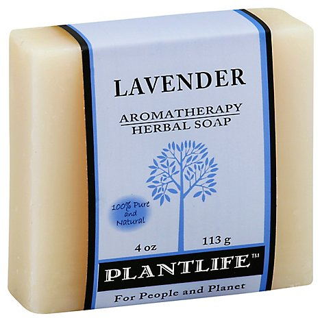 Plantlife Lavender 100% Pure & Natural Aromatherapy Herbal Soap, 4 Oz - 4 Oz