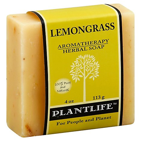 Plantlife Lemongrass 100% Pure & Natural Aromatherapy Herbal Soap, 4 Oz - 4 Oz