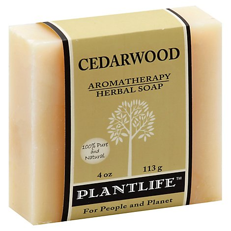 Plantlife Cedarwood 100% Pure & Natural Aromatherapy Herbal Soap, 4 Oz - 4 Oz