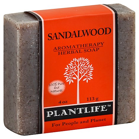 Plantlife Soap Herbal Sandalwood, 4 Oz - 4 Oz