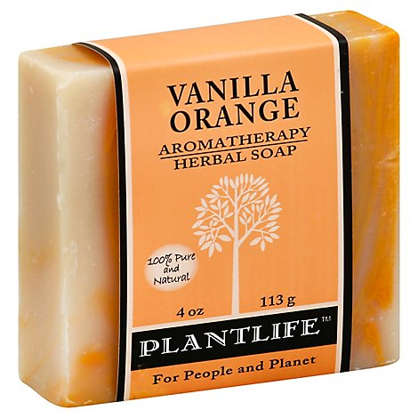 Plantlife Soap Herbal Vanilla Orange, 4 Oz - 4 Oz