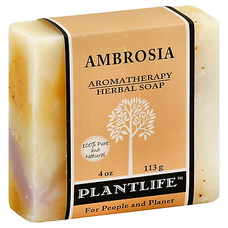 Plantlife Aromatherapy Herbal Soap Ambrosia, 4 Oz - 4 Oz