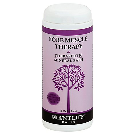 Plantlife Therapeutic Mineral Bath Salt Sore Muscle, 16 Oz - 16 Oz