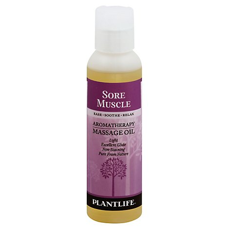 Plantlife Massage Oil Sore Muscle, 4 Fz - 4 Fl. Oz.