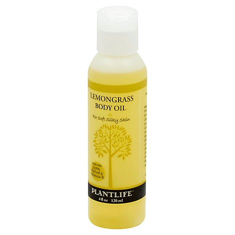 Plantlife Lemongrass Body Oil, 4 Fz - 4 Fl. Oz.