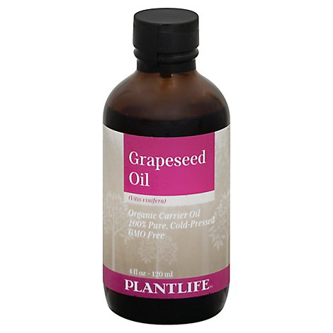 Plantlife Carrier Oil Grape Seed Oil - Organic, 4 Fz - 4 Fl. Oz.