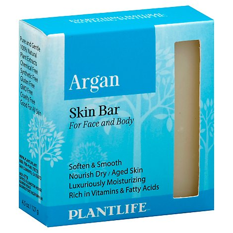 Plantlife Skin Bar- Argan, 4 Oz - 4 Oz