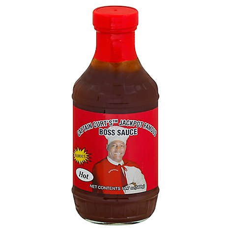 Captain Curt Hot Barbeque Sauce - 18 Oz