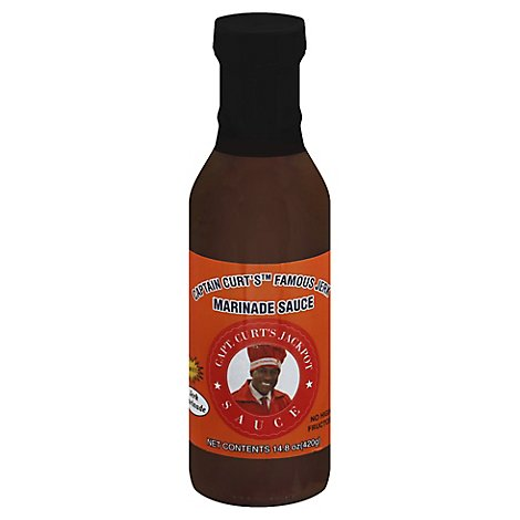 Captain Curts Sauce Marinade Famous Jerk - 14.9 Oz