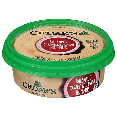 Cedars Basalmic Carelized Onion Hommus - 8 Oz
