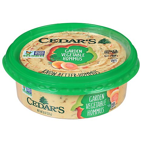 Cedars Garden Vegetable Hommus - 8 Oz
