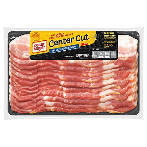 Oscar Meyer Center Cut Thick Sliced Bacon - 12 Oz