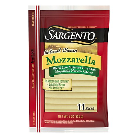 Sargento Mozzarella Sliced Cheese - 8 Oz