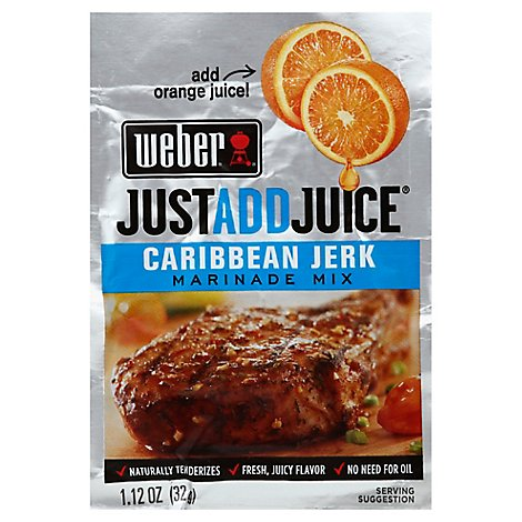 Weber Just Add Juice Caribbean Jerk Marinade Mix - 1.12 Oz