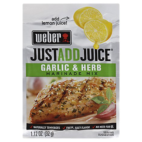 Weber Marinade Just Add Juice Grlc & Hrbe - 1.12 Oz