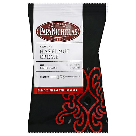 Papanicholas Hazelnut Creme Ground Coffee - 1.75 Oz