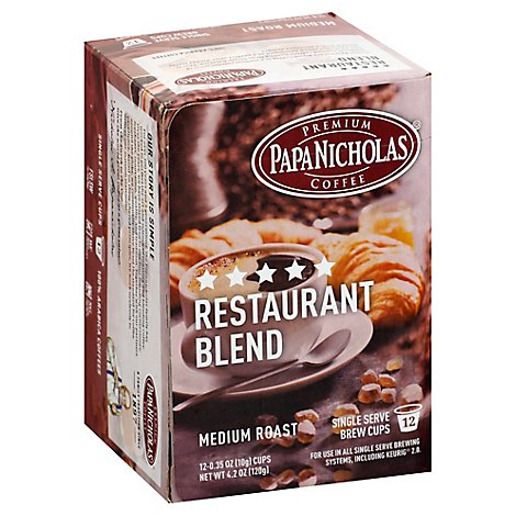 Papanicholas Single Serve Five Star Restaurant Blend Coffee - 12 Count