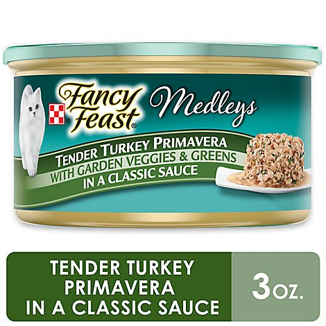 Fancy Feast Cat Food Wet Medleys Turkey Primavera - 3 Oz