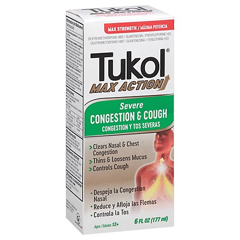 Tukol Max Action Severs Cough - 6 Oz