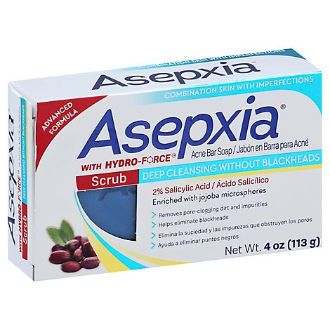 Asepxia Cleansing Bar Scrub - 4 Oz