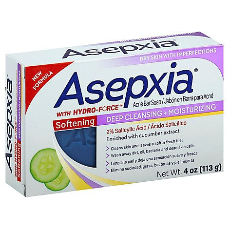 Asepxia Cleansing Bar Moisturizing - 4 Oz