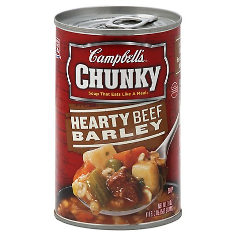 Campbells Chunky Hearty Soup Beef Barley - 19 Oz