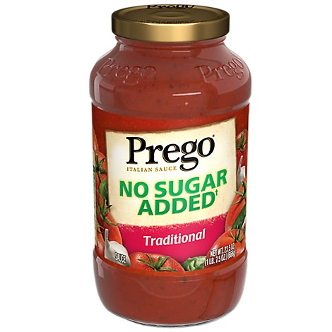 Prego Italian Sauce Traditional No Sugar Added Jar - 23.5 Oz