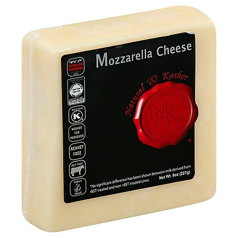 Natural & Kosher Mozzarella Cheese Chunks - 8 Oz