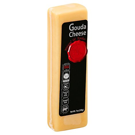 Natural & Kosher Chunk Gouda Cheese - 7 Oz