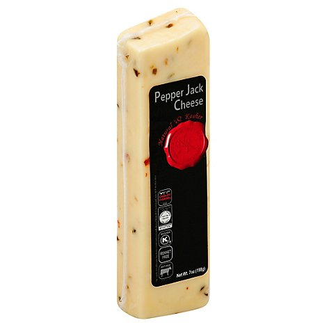 Natural & Kosher Chunk Pepper Jack Cheese - 7 Oz