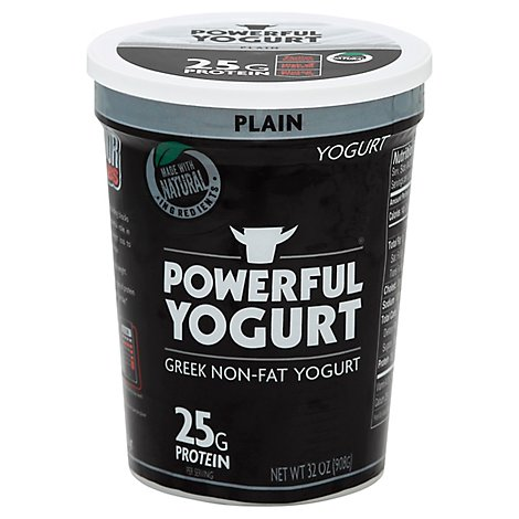 Powerful Yogurt Plain Greek Yogurt Protein Drink, 8 Oz - 32Oz