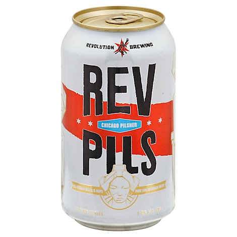Revolution Pilsner 6 Pack - 6 -12 Fl. Oz.