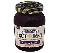 Smuckers Concord Grape Honey Fruit Spread - 9 Oz