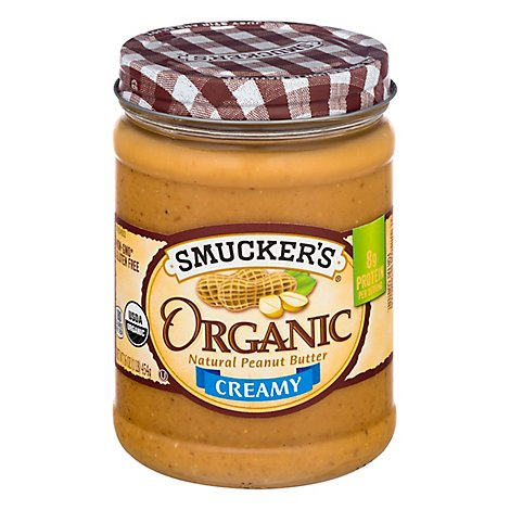 Smuckers Organic Creamy Peanut Butter 16oz - 16 Oz