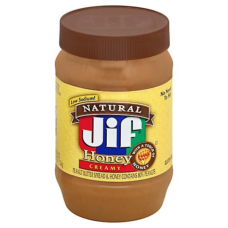 Jif Natural Crunchy Honey Penaut Butter - 40 Oz