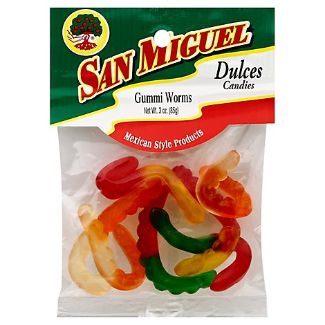 San Miguel Gummy Worms 3 Oz - 3 Oz