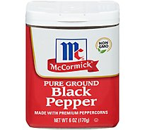 McCormick Pepper Black Ground - 6 Oz