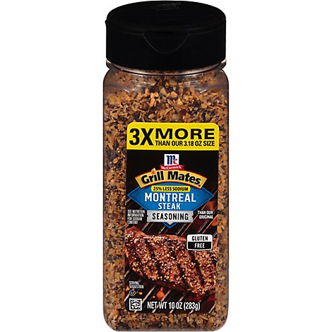 McCormick Grill Mates Seasoning 25% Less Sodium Montreal Steak - 10 Oz