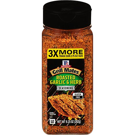 McCormick Grill Mates Seasoning Roasted Garlic & Herb - 9.25 Oz