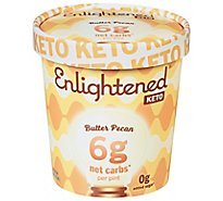 Enlightened Keto Collection Ice Cream Butter Pecan 1 Pint - 473 Ml