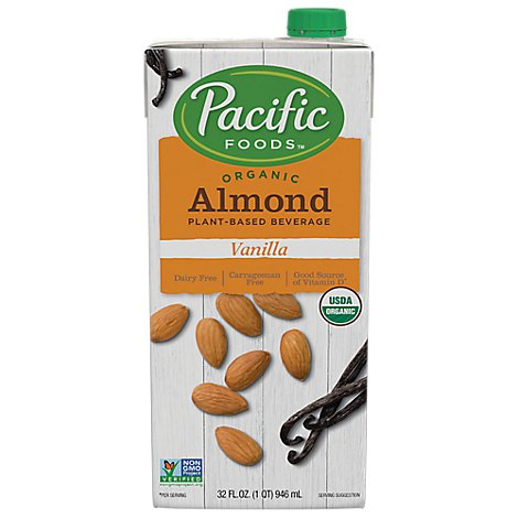 Pacific Organic Beverage Almond Vanilla - 32 Fl. Oz.