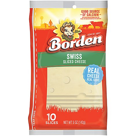 Borden Natural Swiss Single Pack - 5 Oz